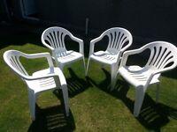 White Patio Garden Chairs