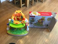 Boxed Fisher Price children's giraffe sit me up seat and activity tray
