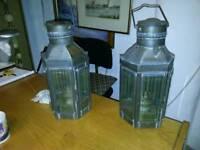 Pair of Original ship storm lanterns REDUSED!! £125 BARGAIN !!