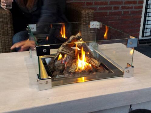 Tafel Met Haard : ≥ haardtafel tafel met haard vuurtafel steigerhout aanbieding