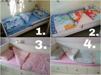 Kids duvet covers with pillowcases: planes 4 boys, winnie the pooh unisex, ballerinas, owls 4 girls