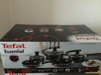 Tefal essential 5 piece pan set