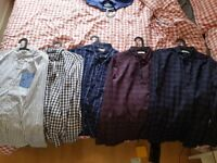 5 mens shirts for £30 size l to xl