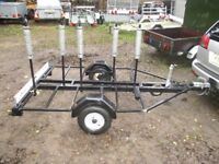 VERY STRONG 5 CYCLE TRANSPORTER CAR TRAILER WITH LIGHTS ETC..