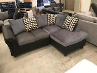 New black and grey corner sofa