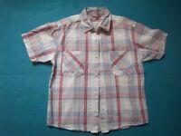Boys Check Short Sleeve Shirt Age 8-9 Years IP1