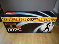 JAMES BOND VHS VIDEO LIMITED EDITION BOXSET - MOST VIDEOS ARE STILL SEALED - CERTIFICATE 15
