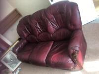 Leather 3 Seater Wind Colour Sofa