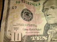 **Extremely rare ten dollar bill**