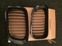 Bmw e46 coupe convertible black kidney grills