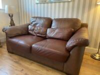 Leather 2-seater Sofa