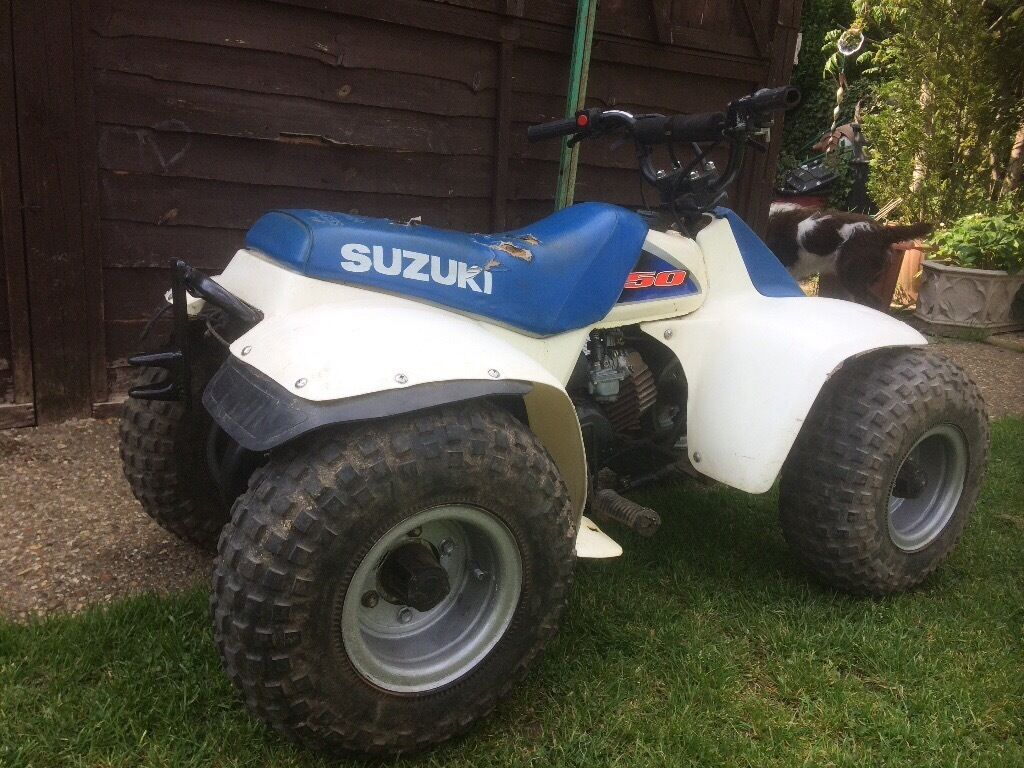 Suzuki LT50 kids 50cc Quad Bike - White & blue - motorbike £450 |