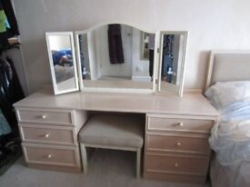 G Plan White Ash Dressing table and matching stool