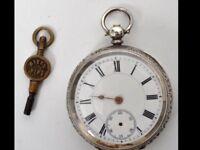 Continental Silver Pocket Watch