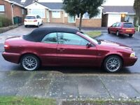 Volvo C70 convertible automatic gearbox in red with FSH in excellent condition