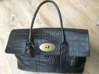Stunning original Mulberry Bayswater in black Congo