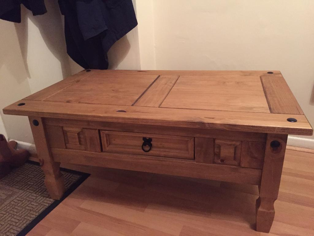 Mexican Pine Coffee Table Corona Mexican Pine Coffee Table In East Preston West Sussex