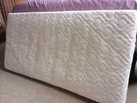 Sprung cot mattress, used but in lovely clean condition