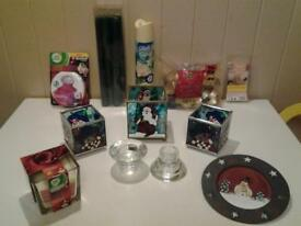 """CHRISTMAS"" SMELLS .. CANDLES, HOLDERS, TEALIGHTS, FRESHENERS, ETC.."