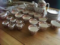 Spode Indian Tree Set of Tea Cups Demitasse cups&Saucers,Tea pot,Coffee pot(31 pieces)