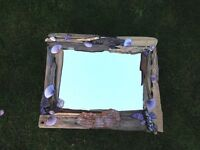 Beautiful handmade driftwood mirror
