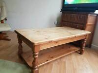 Gorgeous chunky solid pine coffee table
