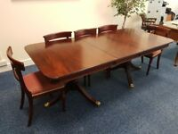 Bruton Classic Dining Table and Eight Chairs in Good Condition
