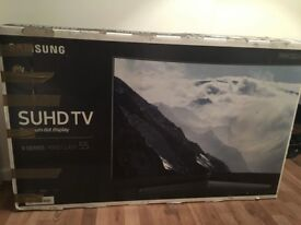 "Samsung 55"" curved 9 series spares or repair damaged tv for sale"