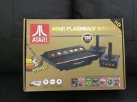 Atari Flash back console includes 120 games 2 controllers may swap for ps5 or PS4 games