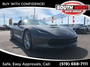 2015 Chevrolet Corvette Z51 1LT-STINGRAY-KOOKS HEADERS-NAV-TARGA