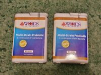 2 X 90 Multi Strain Probiotic Food Supplements from Woods Health Care
