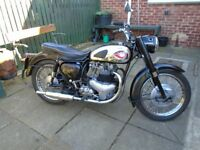BSA - A10 Gold Flash 650cc motorcycle. 1959. Tax and Test Exempt