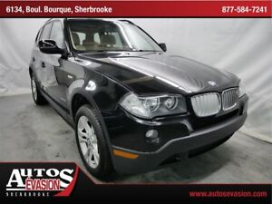 2010 BMW X3 xDrive3.0i AWD + CUIT + TOIT PANORAMIQUE