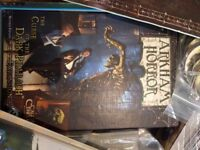 Arkham Horror Board Game + Curse of the Dark Pharaoh Expansion revised editions