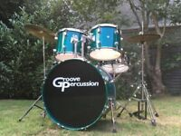 Beginner Drum Kit Complete With Hardware and Cymbals