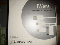 IWantIt Multiple Connection Kit - iphone/ipad/ipod