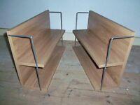 Hanging bookcase / bookshelves oak veneer X2 - Excellent condition