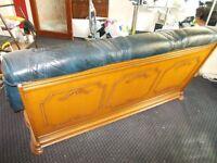 3 piece oak and italian leather suite