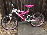 Pink mountain bike