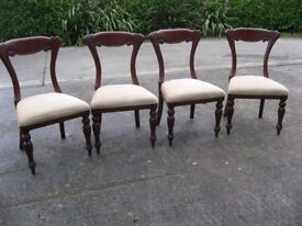 4 wide, very comfy dining chairs