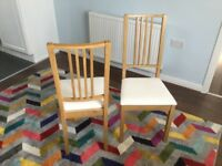 4 IKEA dining chairs