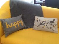 Cushions with matching throw
