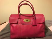 Mulberry Bayswater handbag in Mulberry pink used in good condition