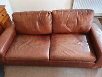 Free Quality & Comfy Next Sonoma Leather 3 Seater Sofa!
