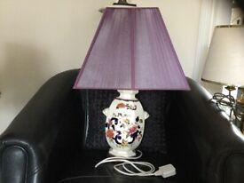 Masons Blue Mandalay lamp