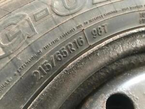 P215/65R16 TOYO OBSERVE G-02 WINTER TIRES ON UNKNOWN RIMS SET OF 4 GOOD CONDITION