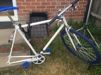 Good road bike for sale custom bike good for traveling around the city of London back wheel needed