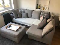 Gorgeous grey corner sofa - like new!