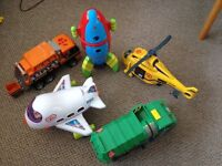 Box of good quality boys or girls Toys 5 branded items Rocket Dickie Trucks Aeroplane Helicopter