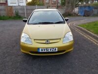 2002 Honda Civic 1.6 i-VTEC S 3dr Automatic @07445775115